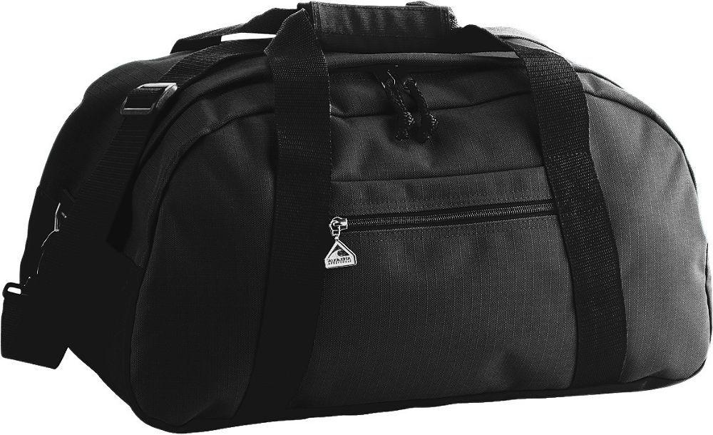 Large Ripstop Duffel Bag - BLACK/BLACK
