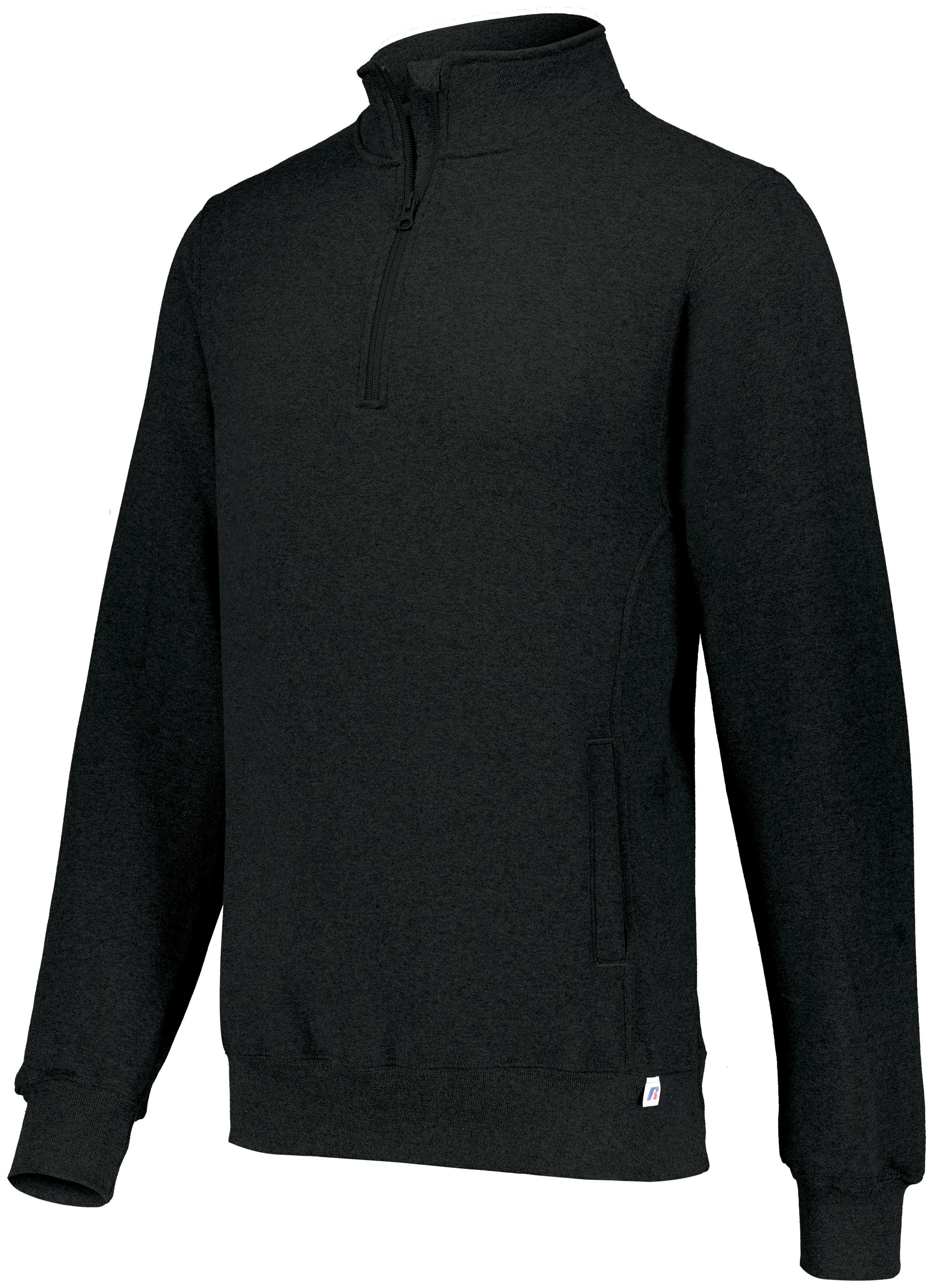 Dri-Power® Fleece 1/4 Zip Pullover - Black