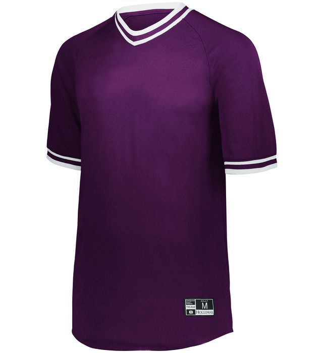 Retro V-Neck Baseball Jersey
