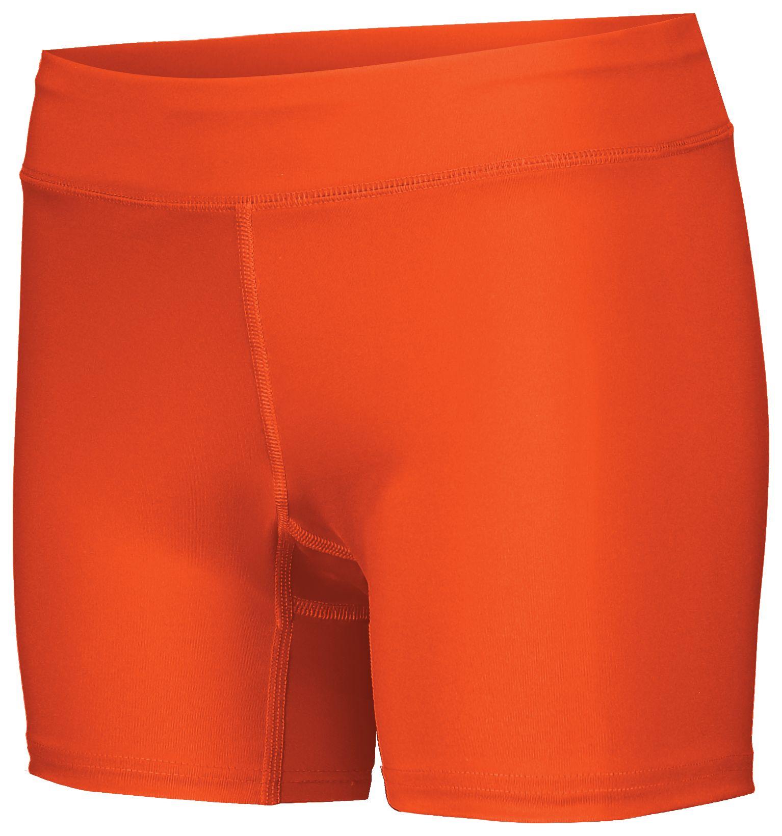 Ladies Pr Max Compression Shorts - Orange