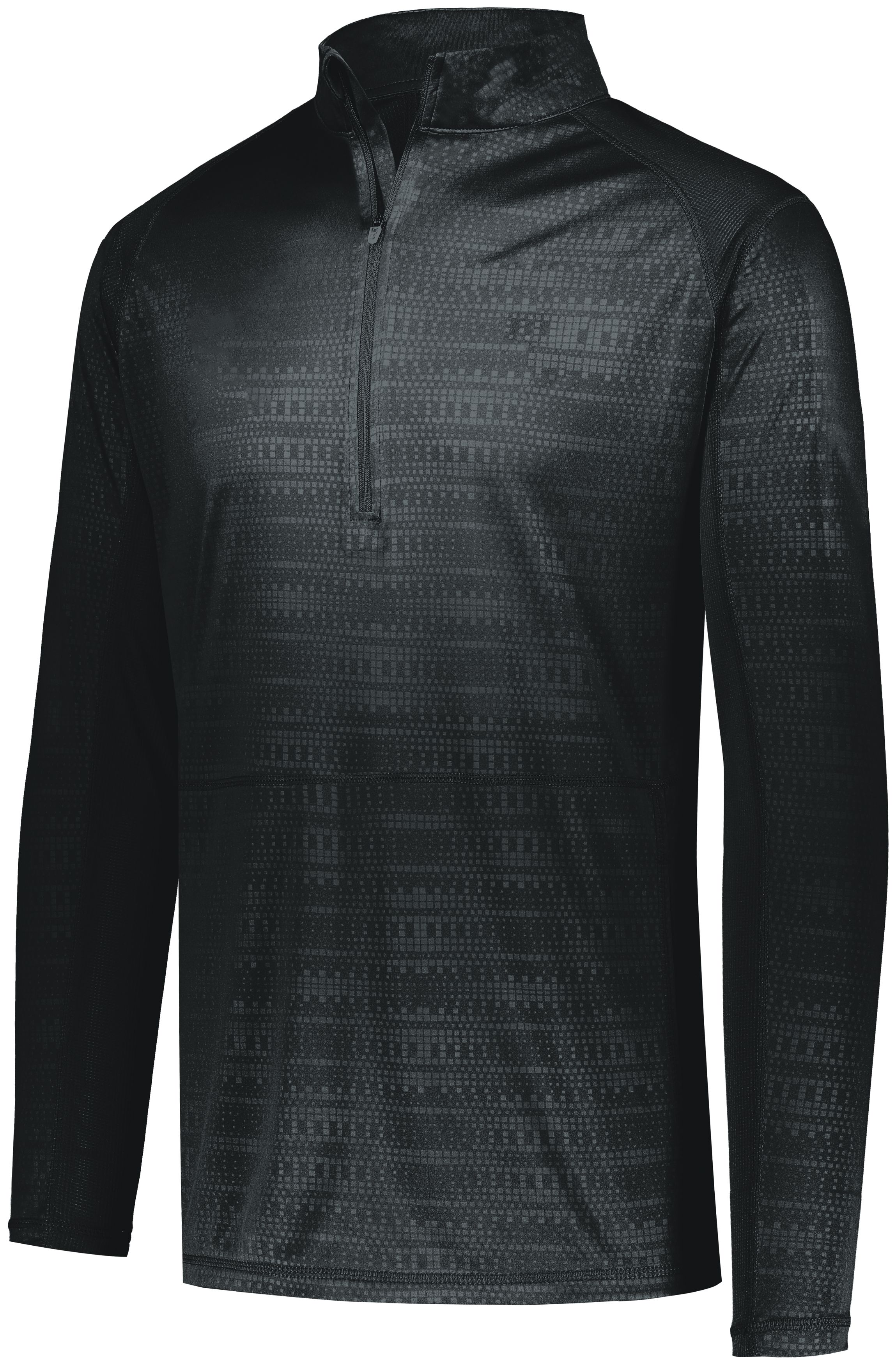 Converge 1/2 Zip Pullover - BLACK