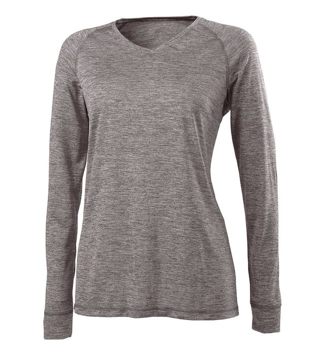 Ladies Electrify 2.0 V-Neck Long Sleeve Tee