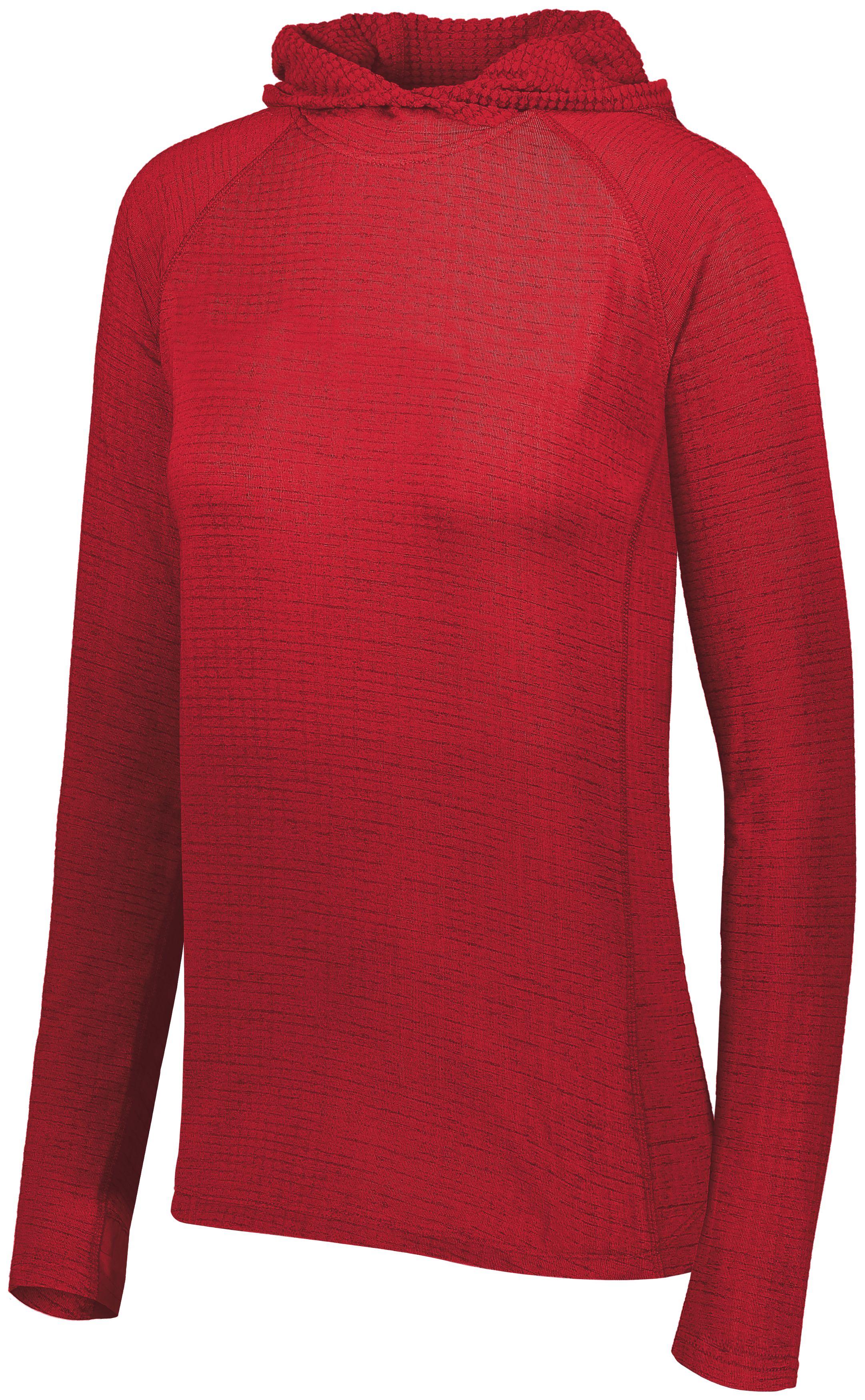 Ladies 3D Regulate Lightweight Pullover - SCARLET HEATHER
