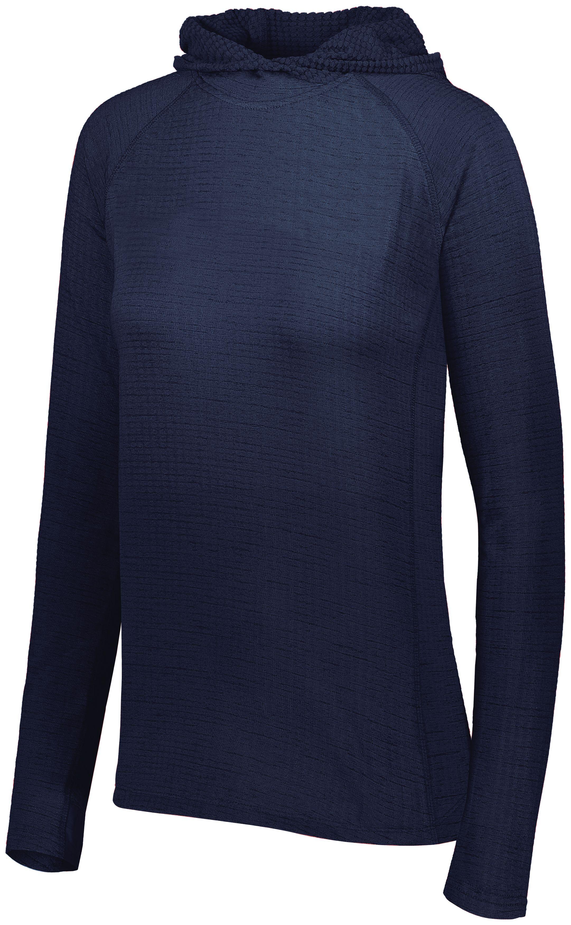 Ladies 3D Regulate Lightweight Pullover - NAVY HEATHER