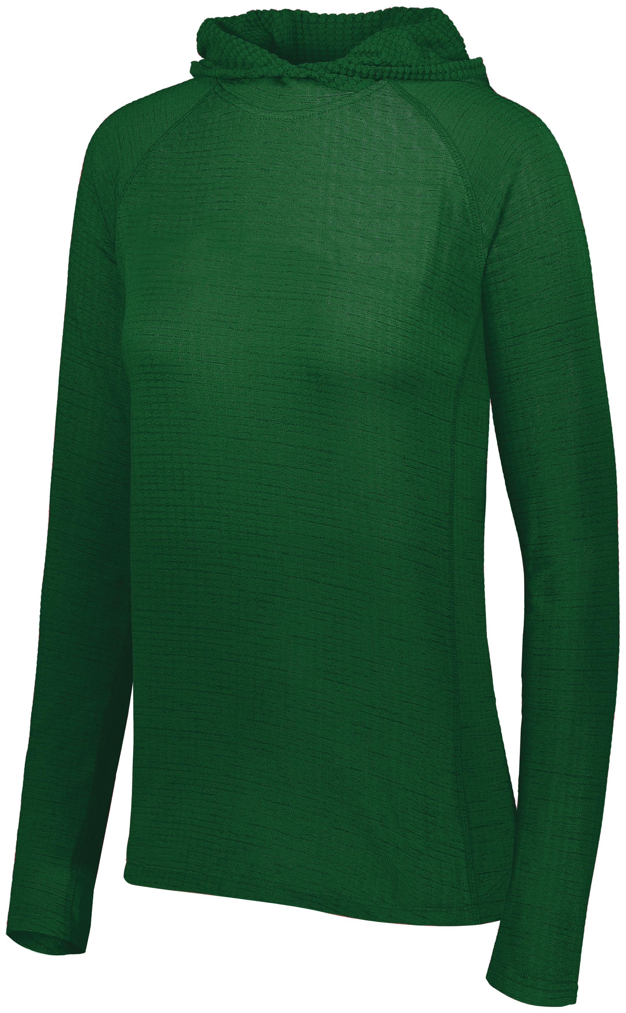 Ladies 3D Regulate Lightweight Pullover - FOREST HEATHER