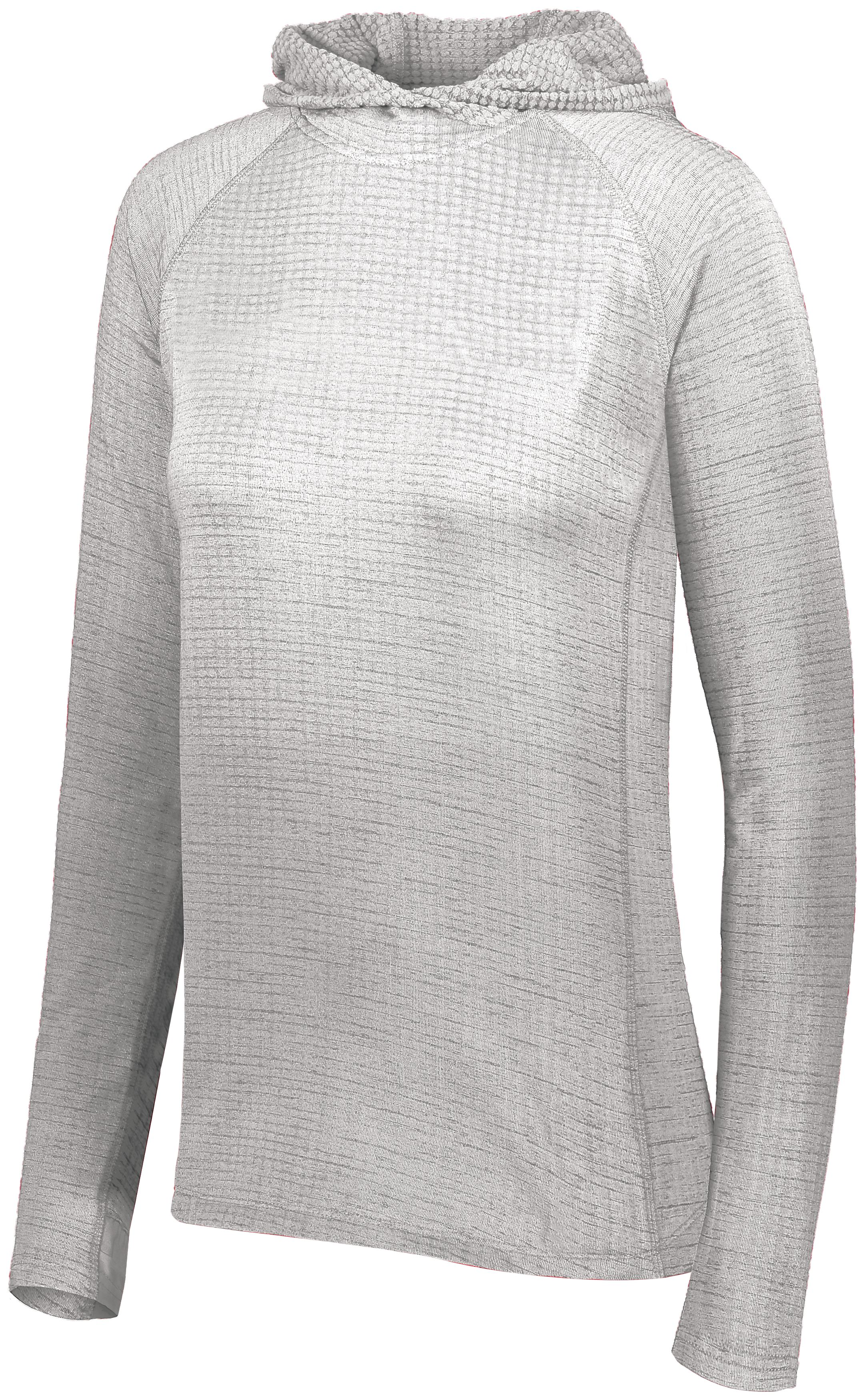 Ladies 3D Regulate Lightweight Pullover - WHITE HEATHER
