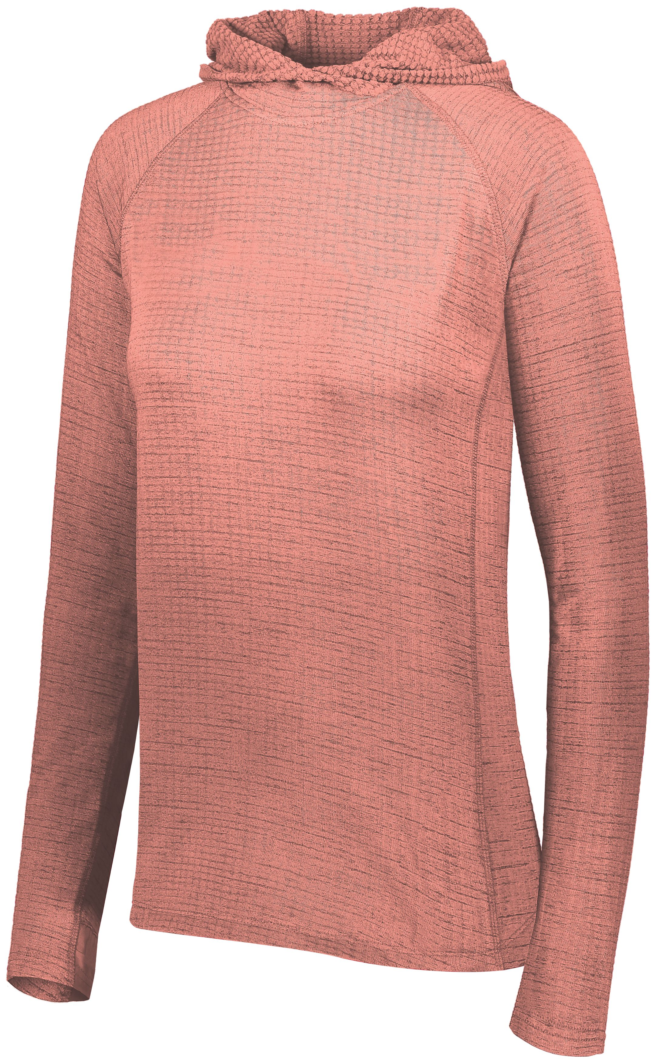 Ladies 3D Regulate Lightweight Pullover - CORAL HEATHER