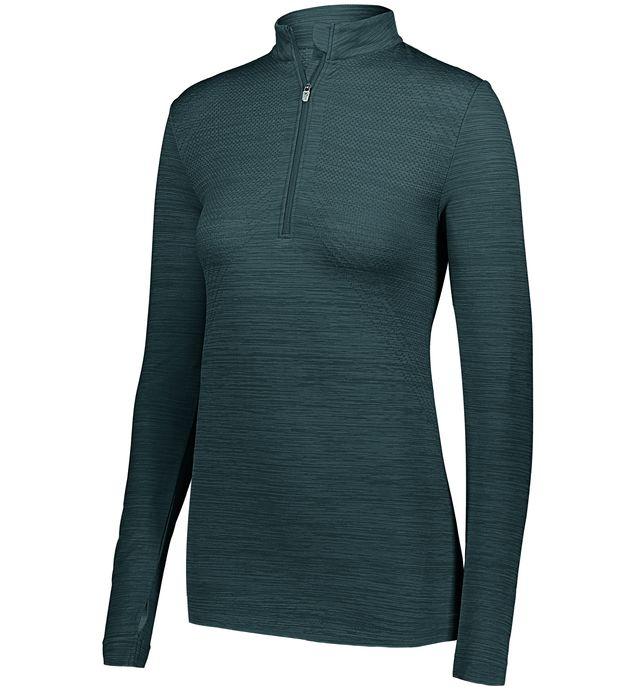 Lds Striated 1/2 Zip Pullover