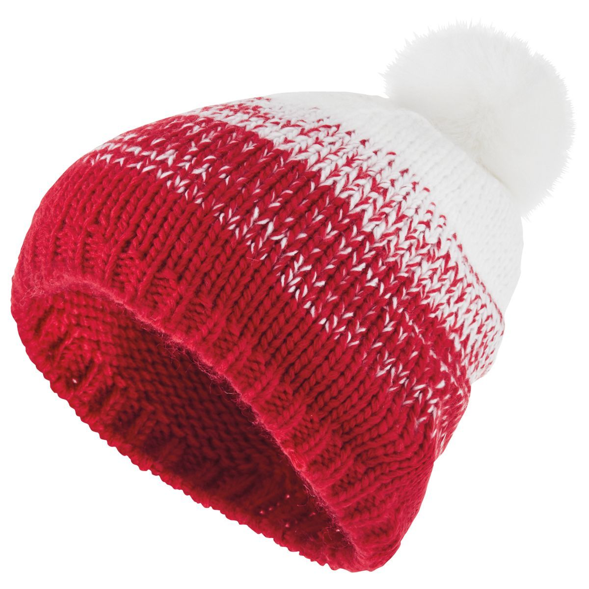 Ascent Beanie - SCARLET/WHITE