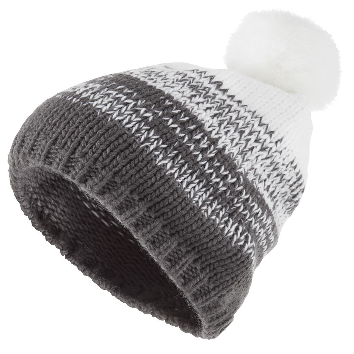 Ascent Beanie - CARBON/WHITE