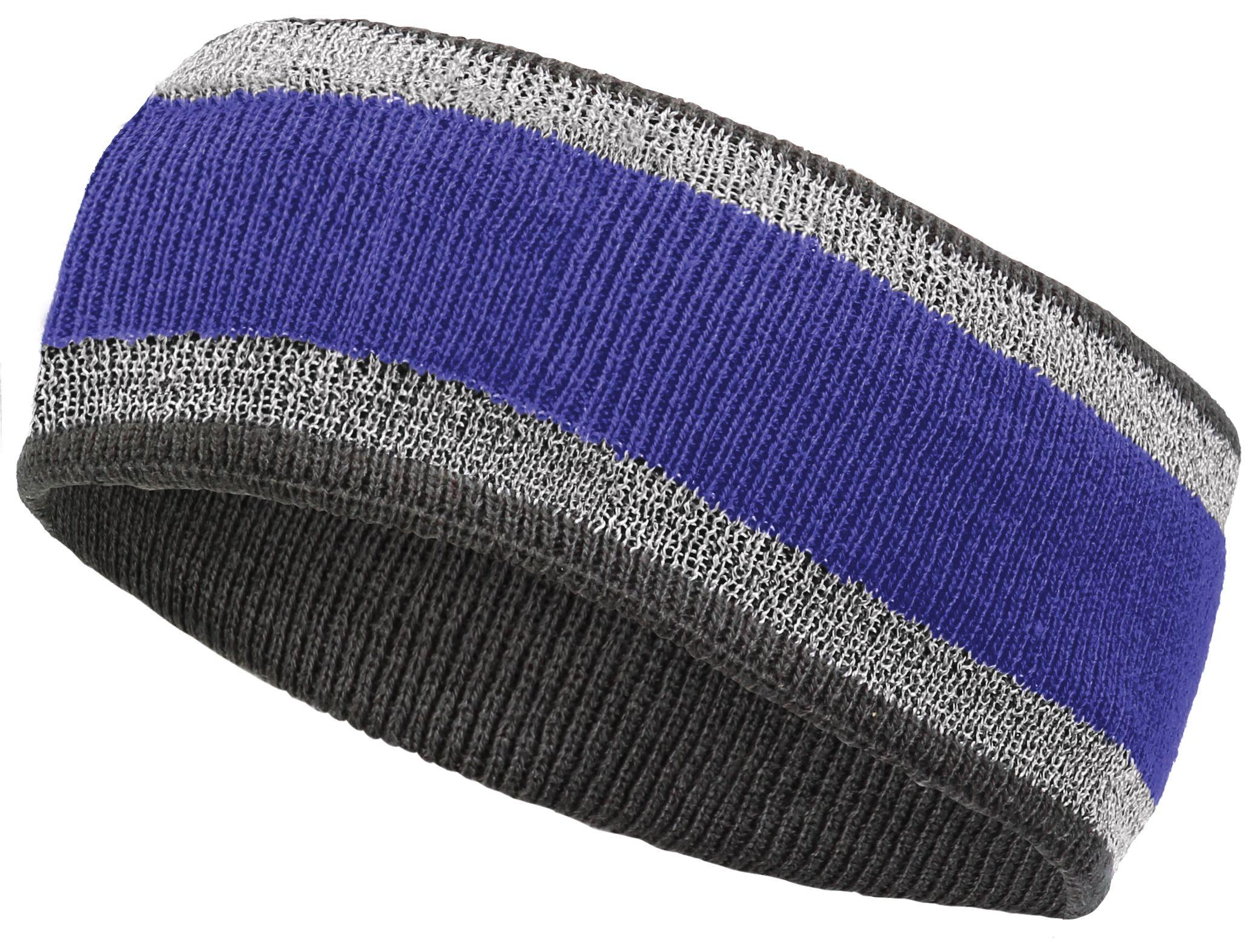 Reflective Headband - PURPLE/CARBON
