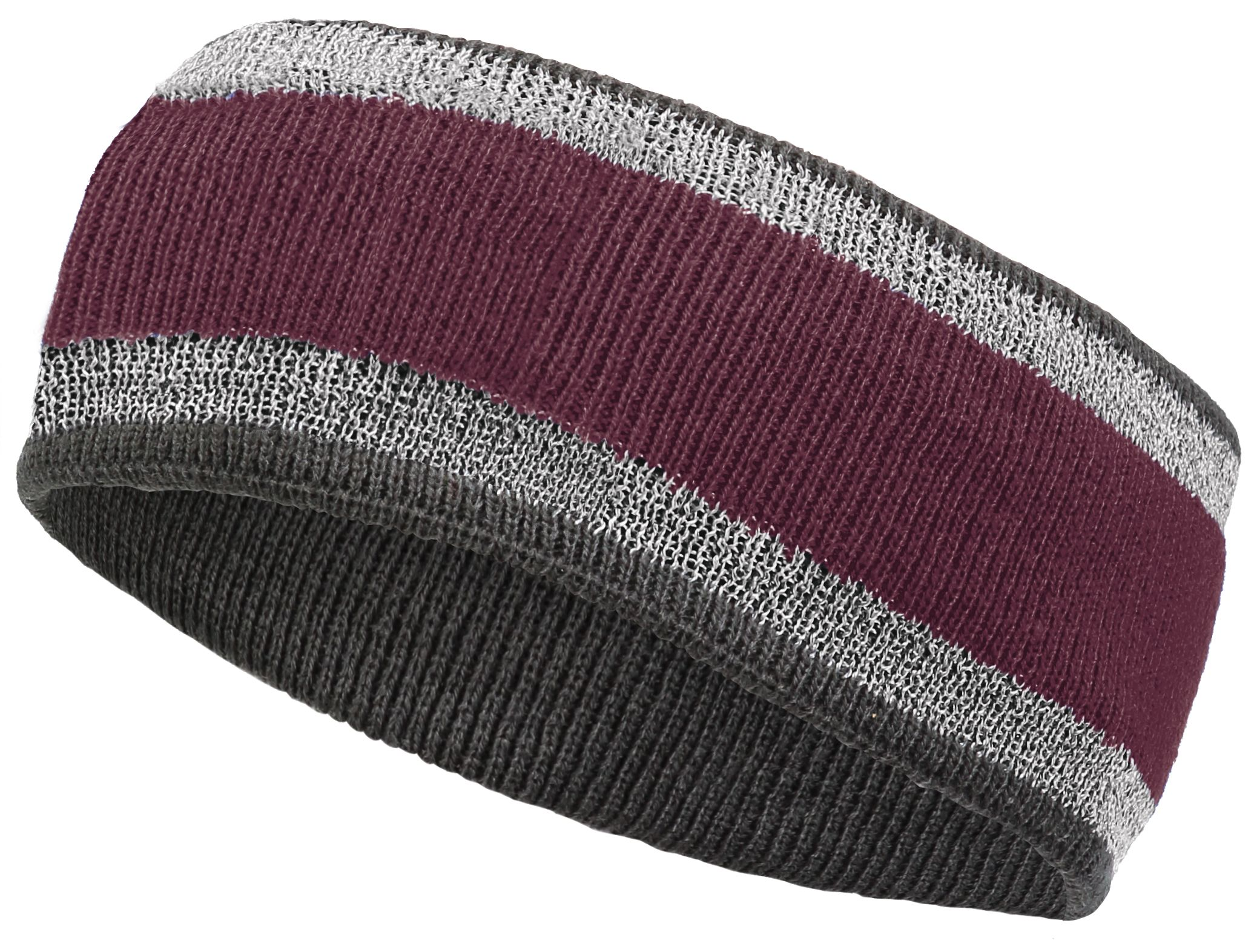 Reflective Headband - MAROON/CARBON