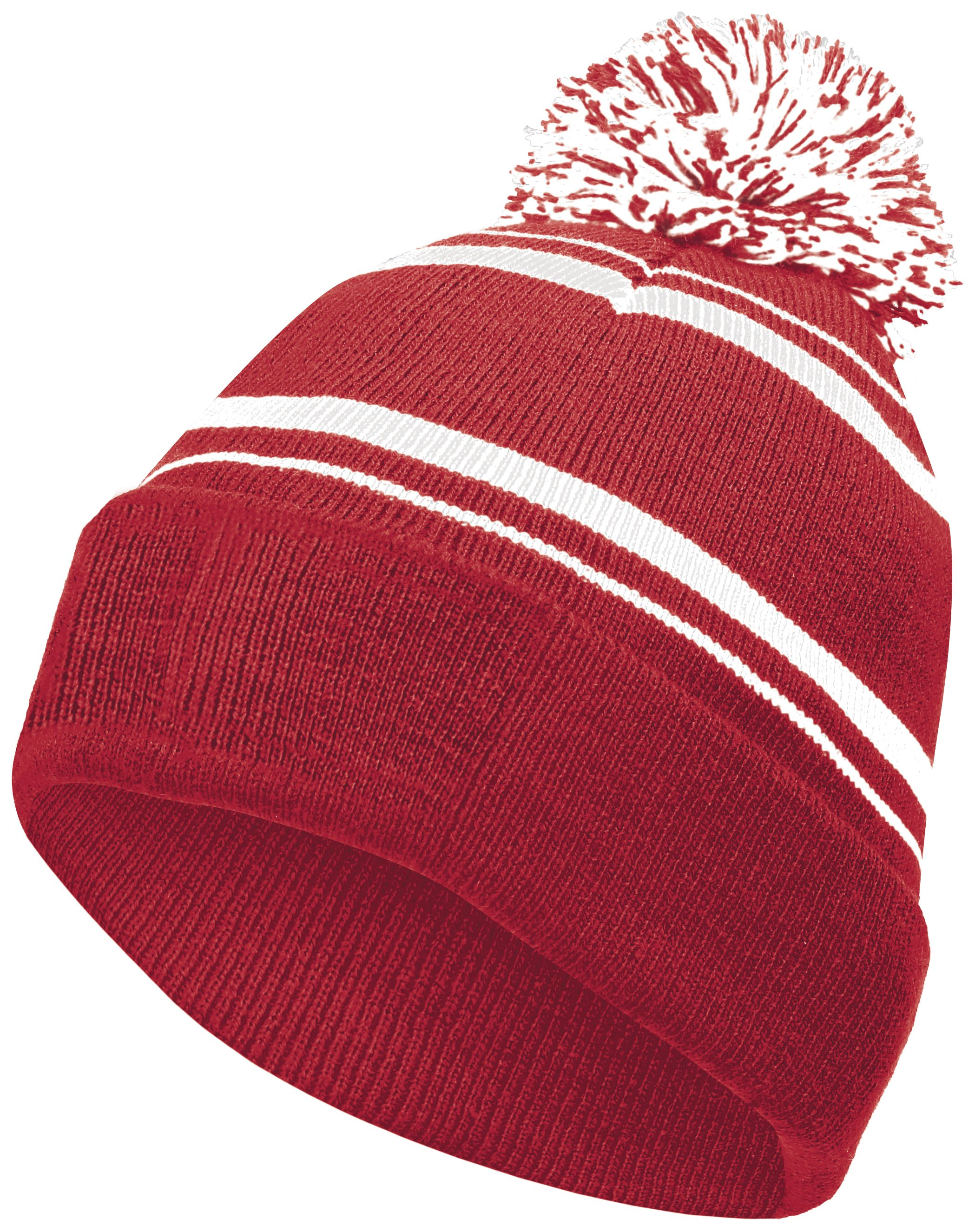 Homecoming Beanie - SCARLET/WHITE
