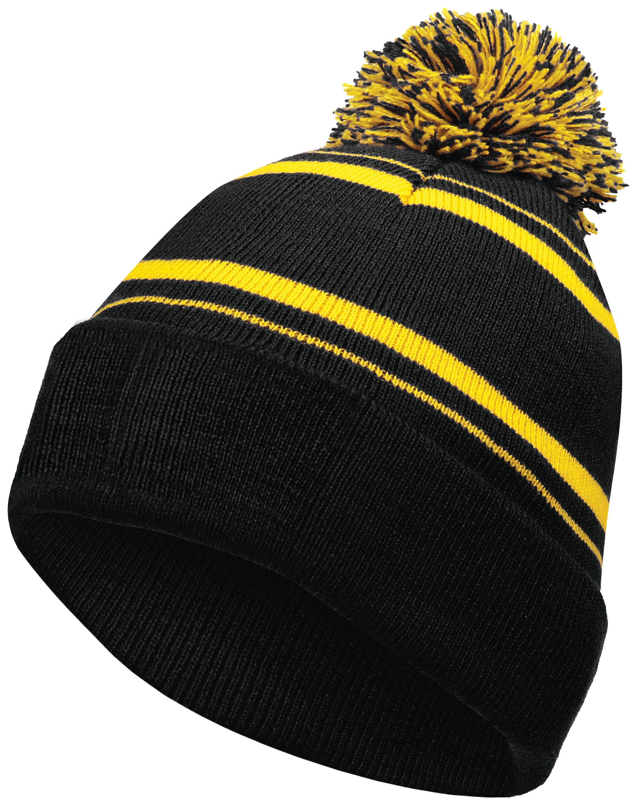 Homecoming Beanie - BLACK/LIGHT GOLD