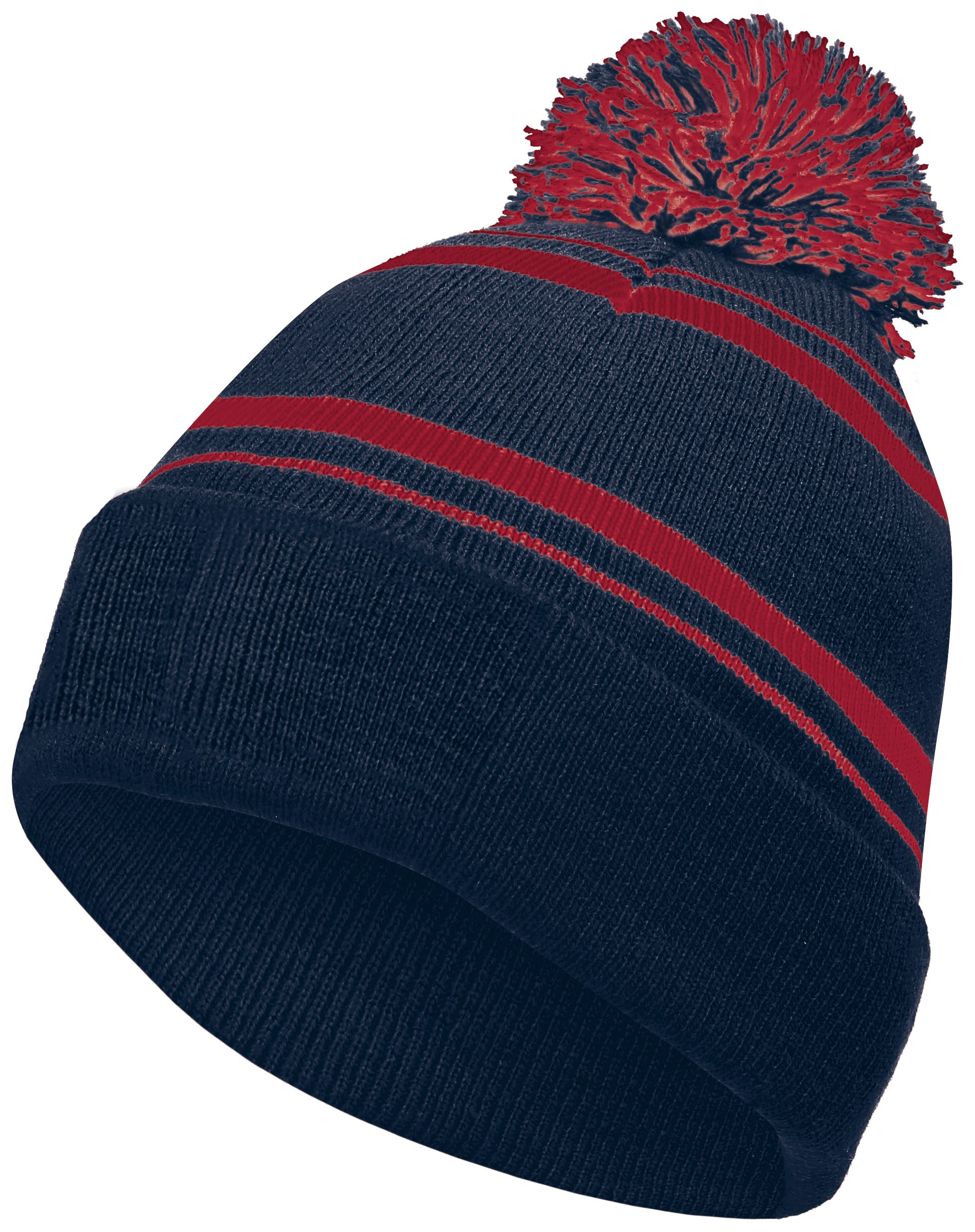 Homecoming Beanie - NAVY/SCARLET