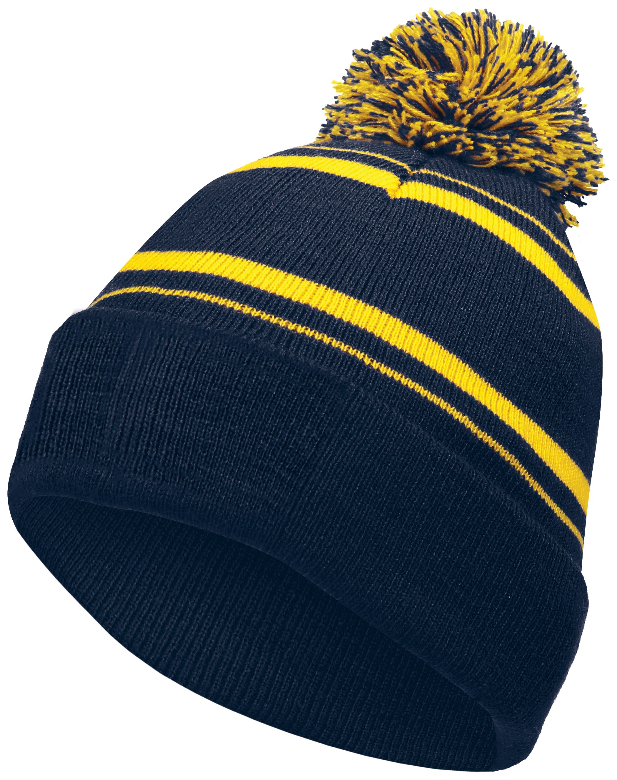 Homecoming Beanie - NAVY/LIGHT GOLD