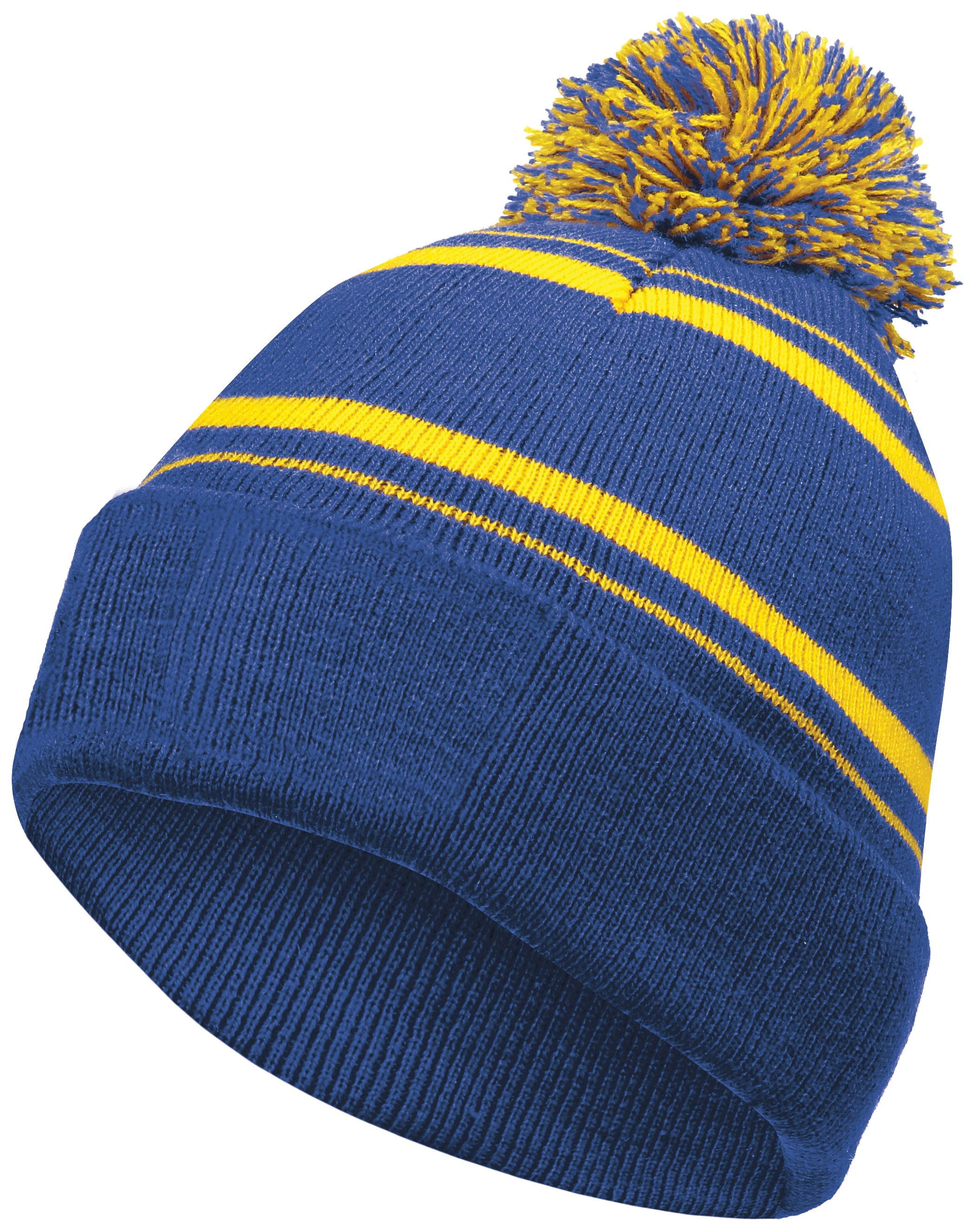 Homecoming Beanie - ROYAL/LIGHT GOLD