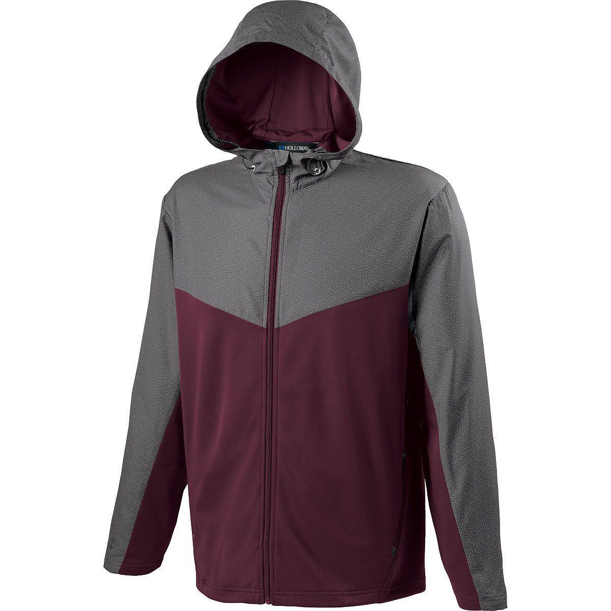 Adult Crossover Jacket - GREY PRINT/MAROON