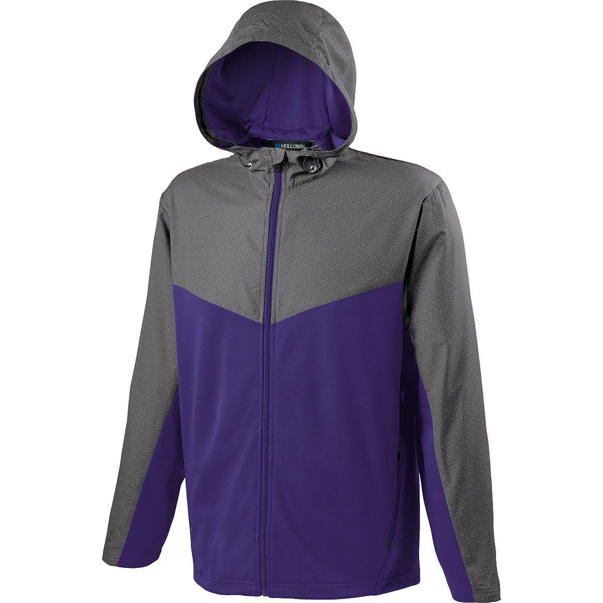 Adult Crossover Jacket - GREY PRINT/PURPLE