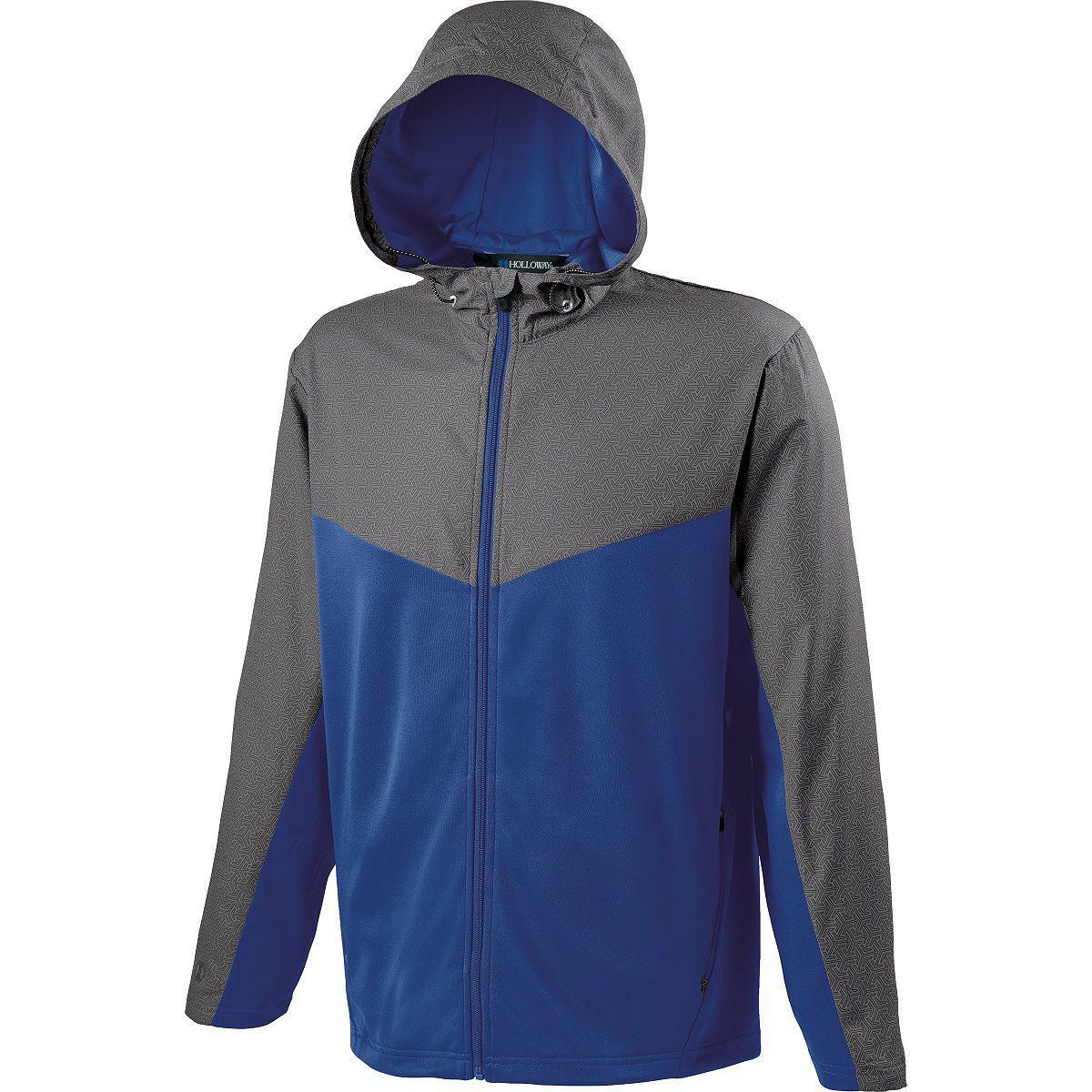 Adult Crossover Jacket - GREY PRINT/ROYAL