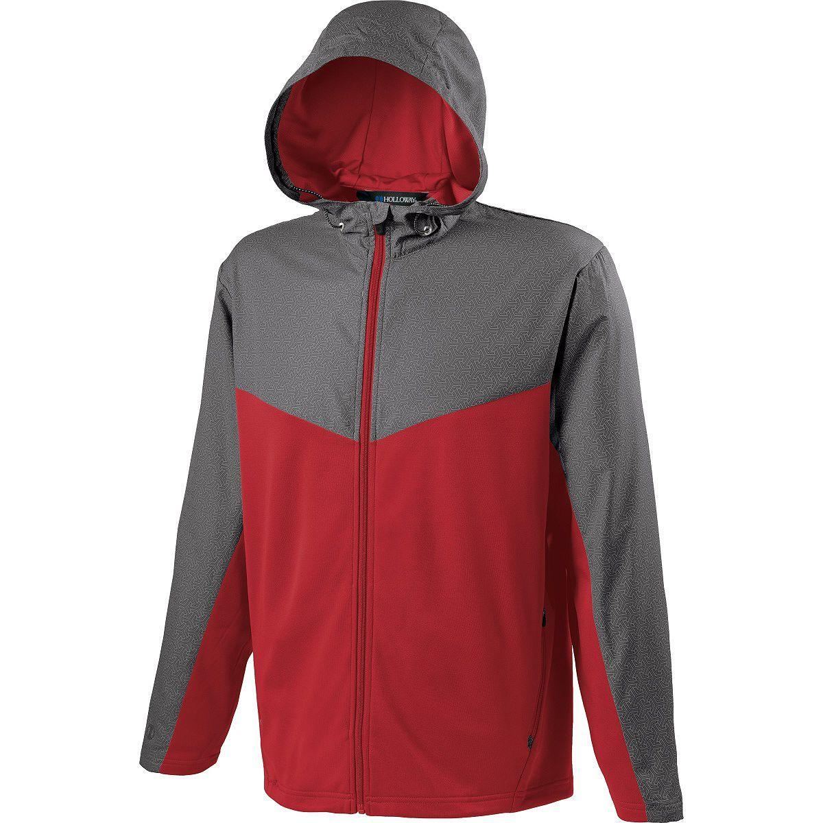 Adult Crossover Jacket - GREY PRINT/SCARLET