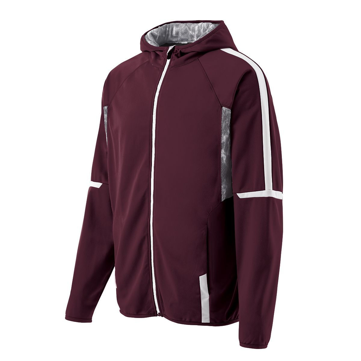 Youth Fortitude Jacket - Maroon/white/white Print