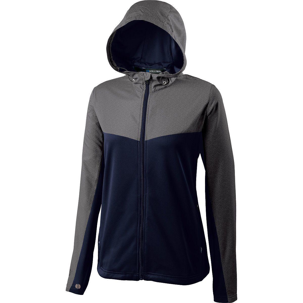 Ladies Crossover Jacket - GREY PRINT/NAVY