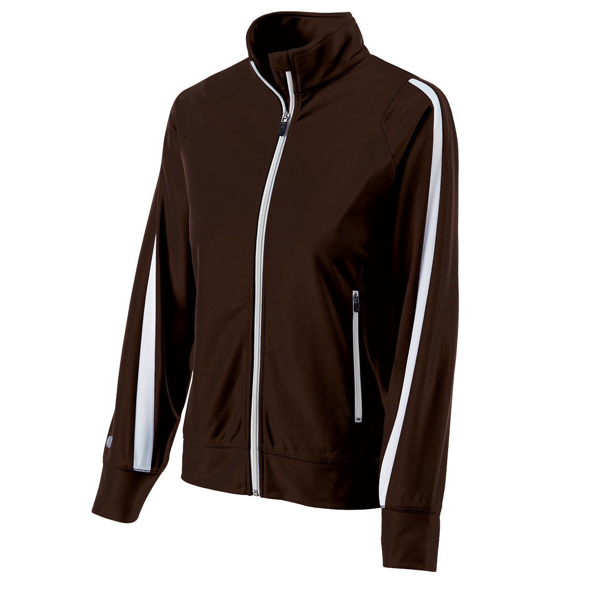 Ladies Determination Jacket - BROWN/WHITE