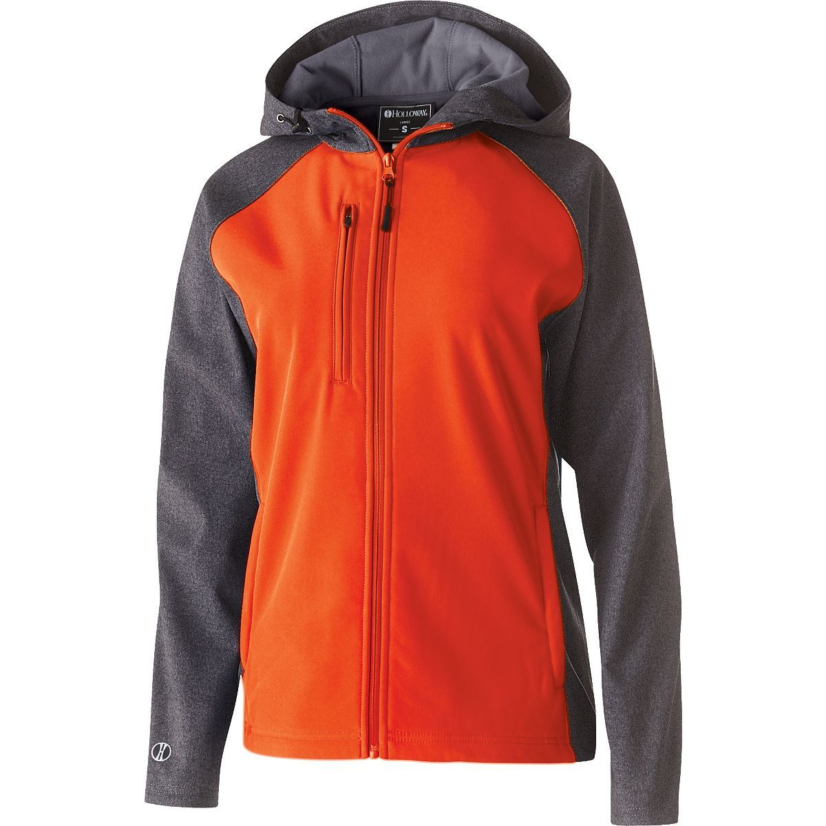 Ladies Raider Softshell Jacket - CARBON PRINT/ORANGE
