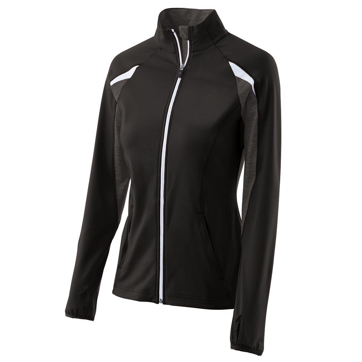 Ladies Tumble Jacket - BLACK/BLACK HEATHER/WHITE