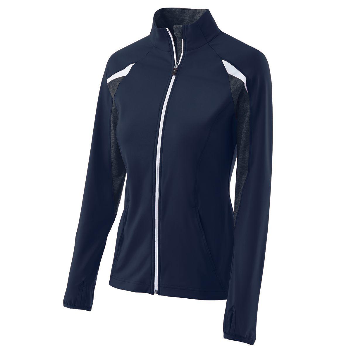 Ladies Tumble Jacket - NAVY/NAVY HEATHER/WHITE