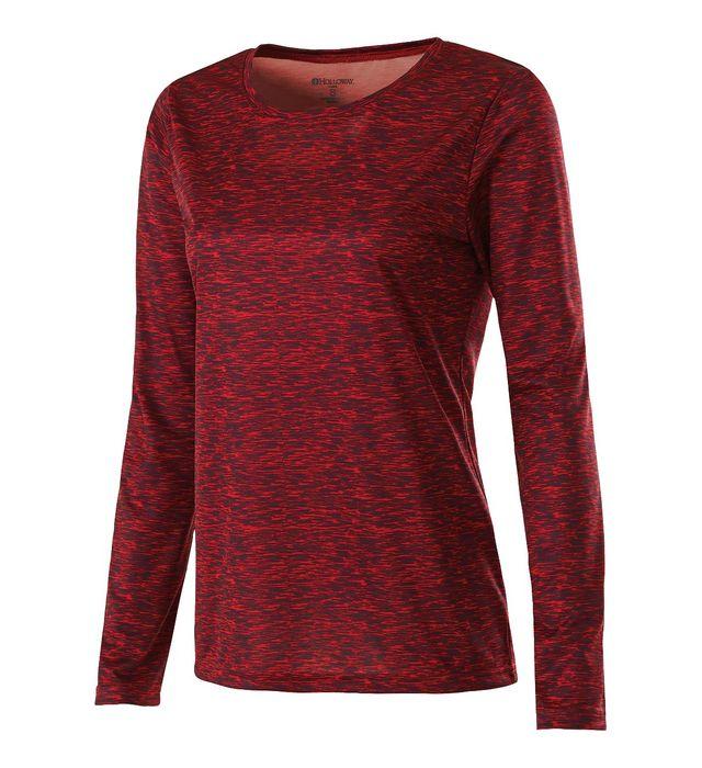 Ladies Space Dye Long Sleeve Shirt