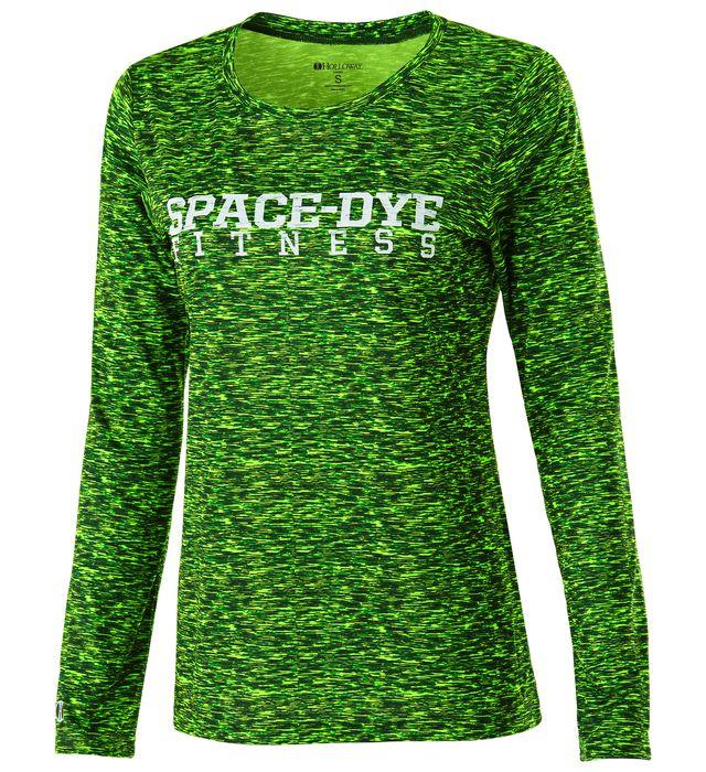 Ladies Space Dye Shirt Long Sleeve
