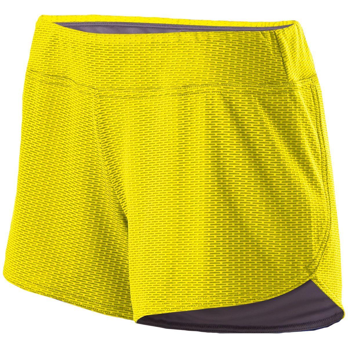 Ladies Boundary Shorts - BRIGHT YELLOW/GRAPHITE