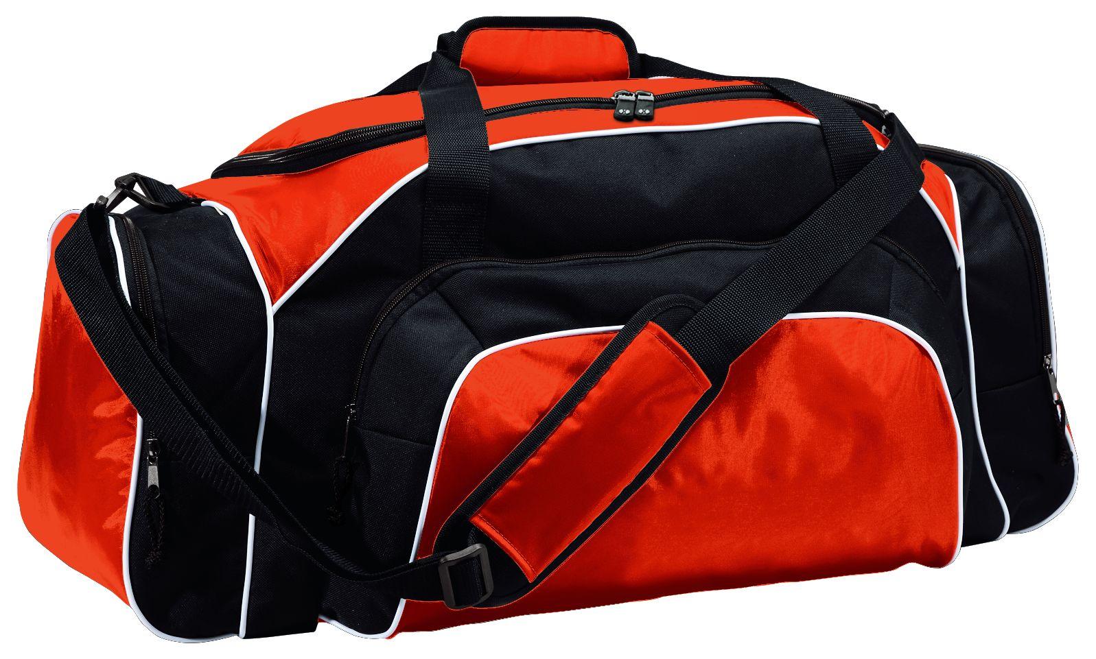 Tournament Duffel Bag - ORANGE/BLACK/WHITE