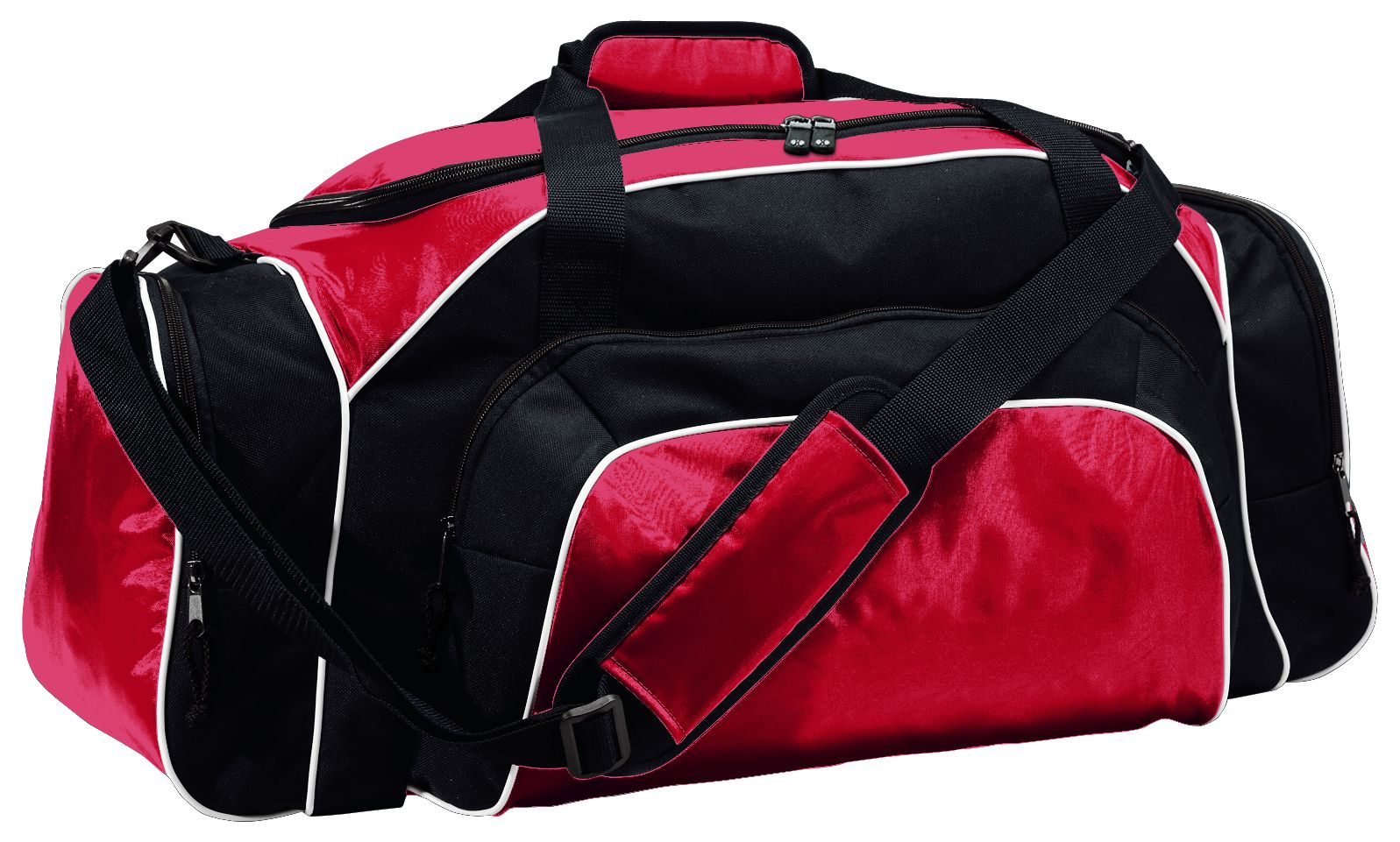 Tournament Duffel Bag - SCARLET/BLACK/WHITE