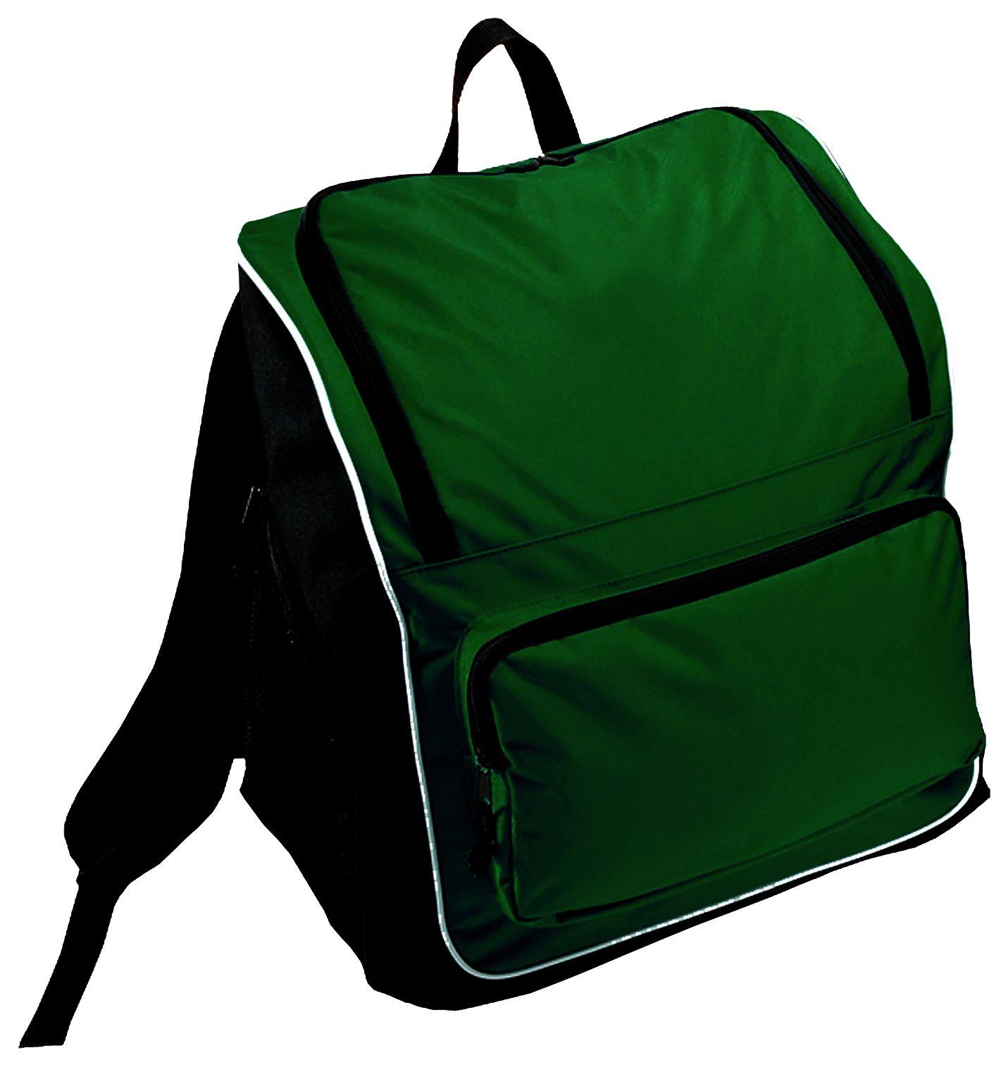 Sportsman Backpack Bag - DARK GREEN/BLACK/WHITE