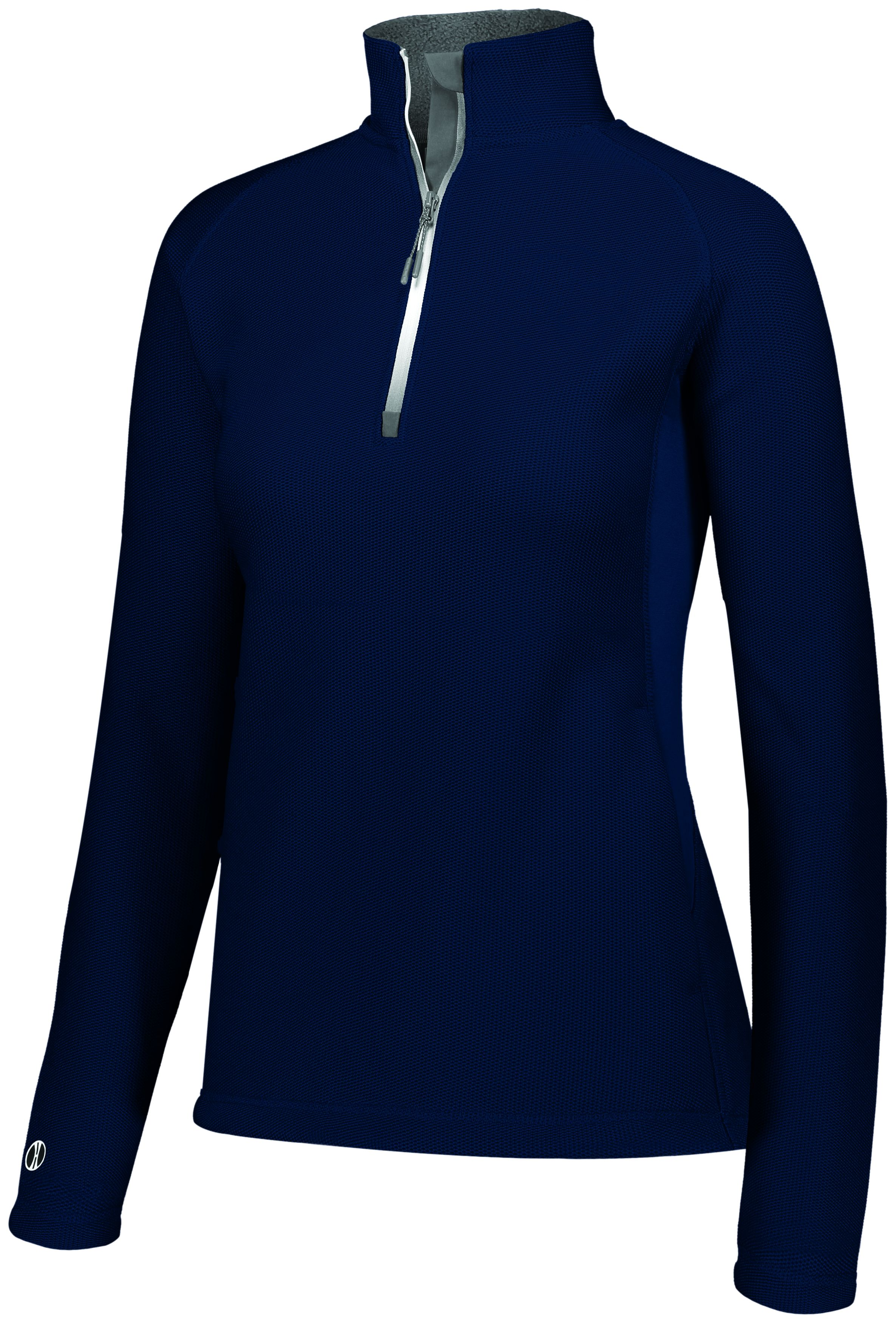 Ladies Invert 1/2 Zip Pullover - NAVY