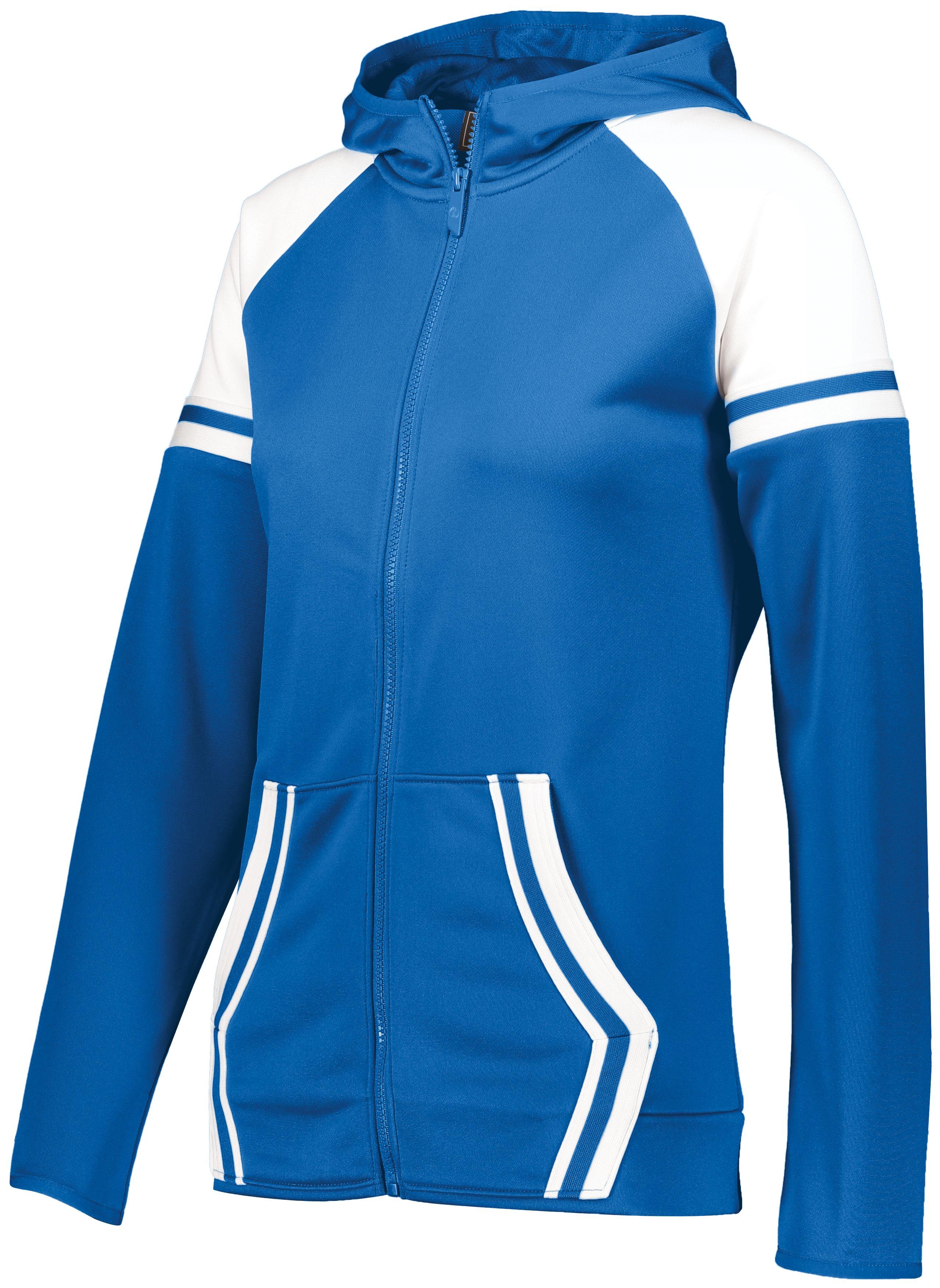 Ladies Retro Grade Jacket - Royal/white