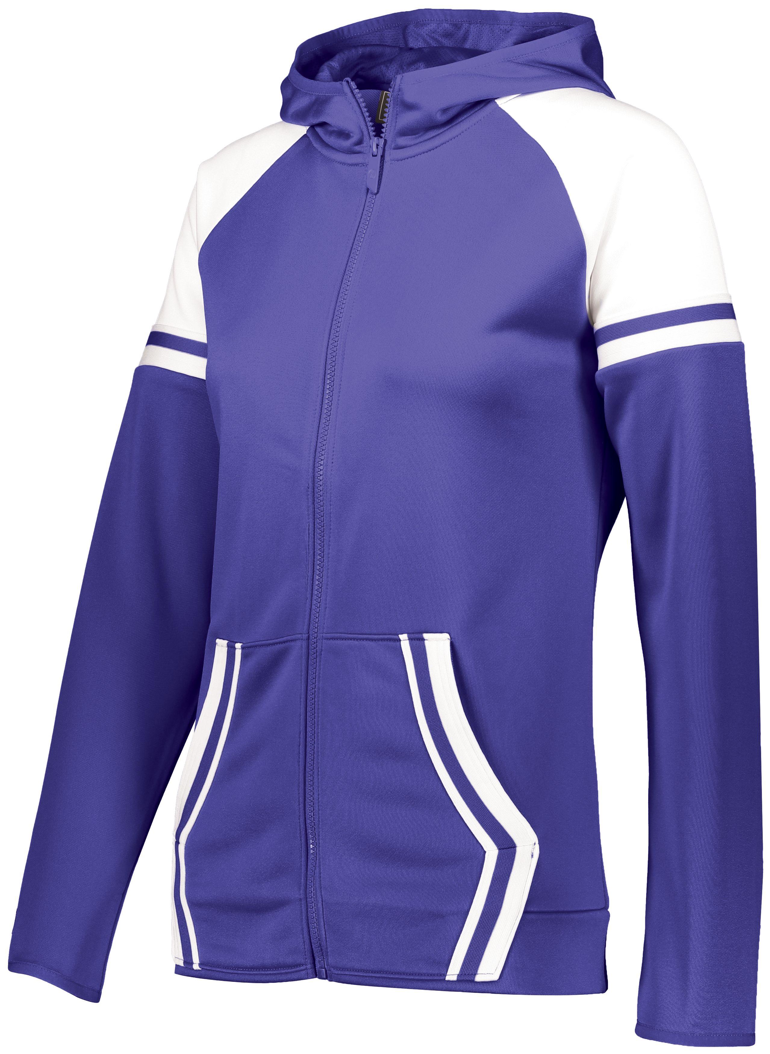 Ladies Retro Grade Jacket - Purple/white