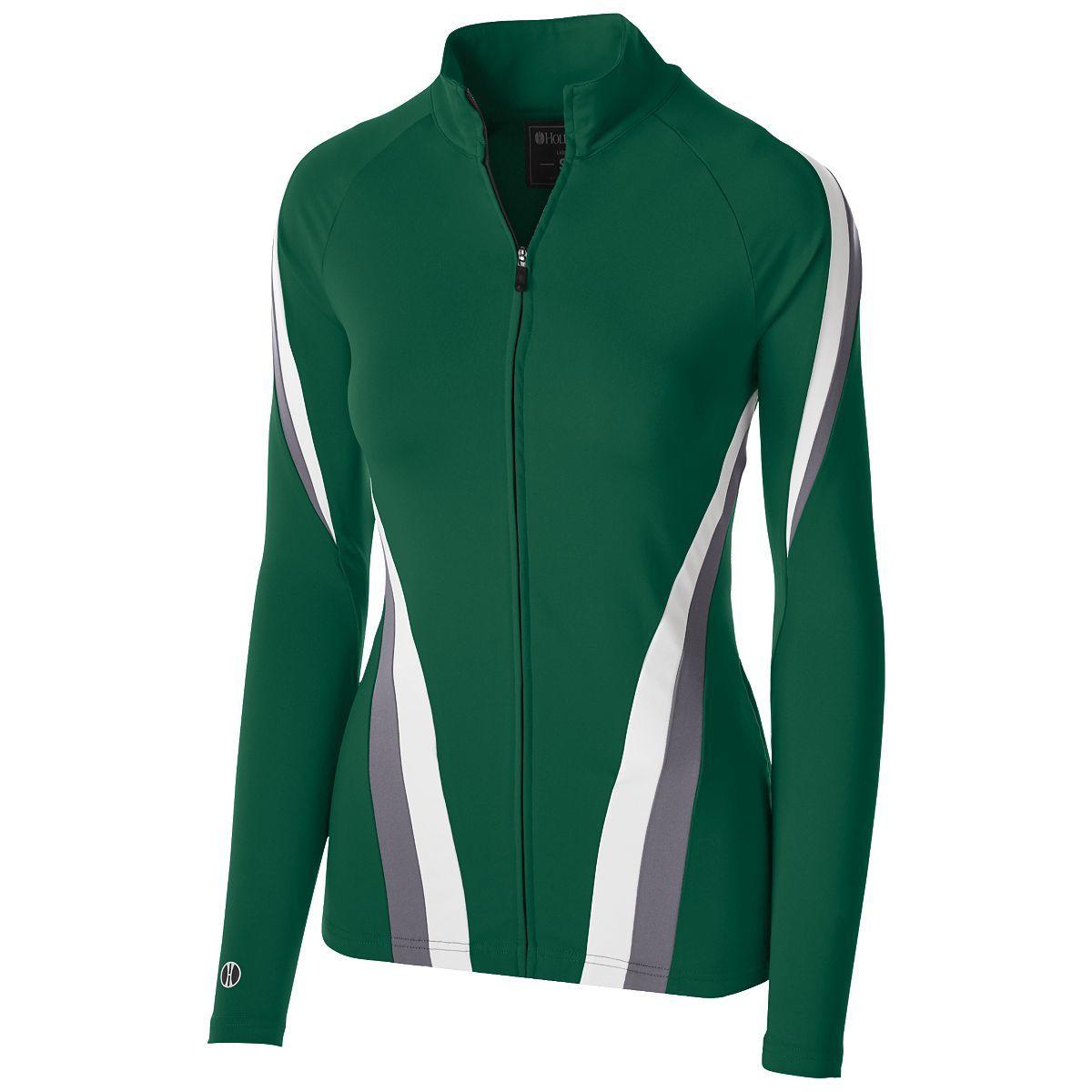 Ladies Aerial Jacket - Forest/graphite/white