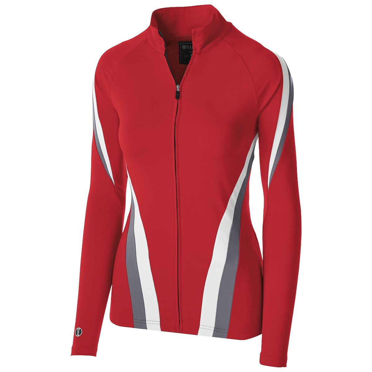 Ladies Aerial Jacket - Scarlet/graphite/white