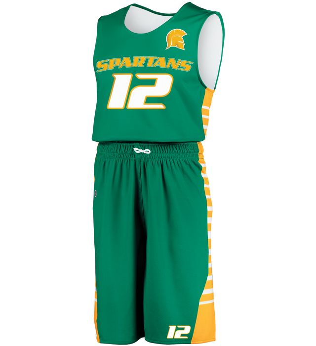 Sublimated Reversible Longer Length Basketball Shorts