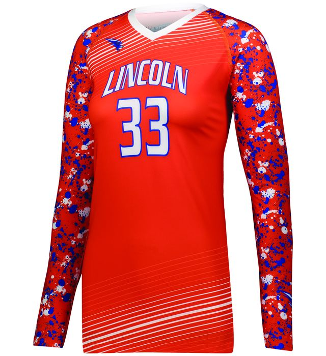 Ladies Freestyle Sublimated Long Sleeve Volleyball Jersey