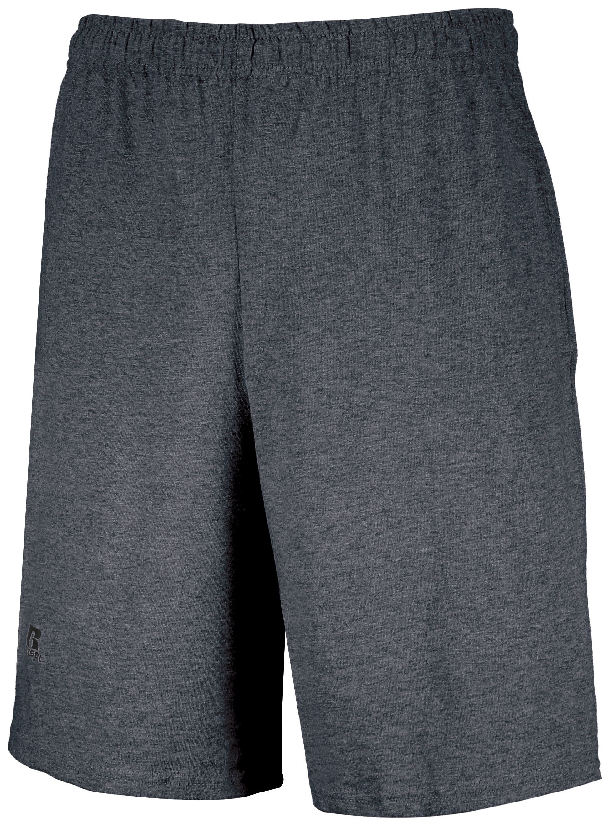 Basic Cotton Pocket Shorts - Black Heather