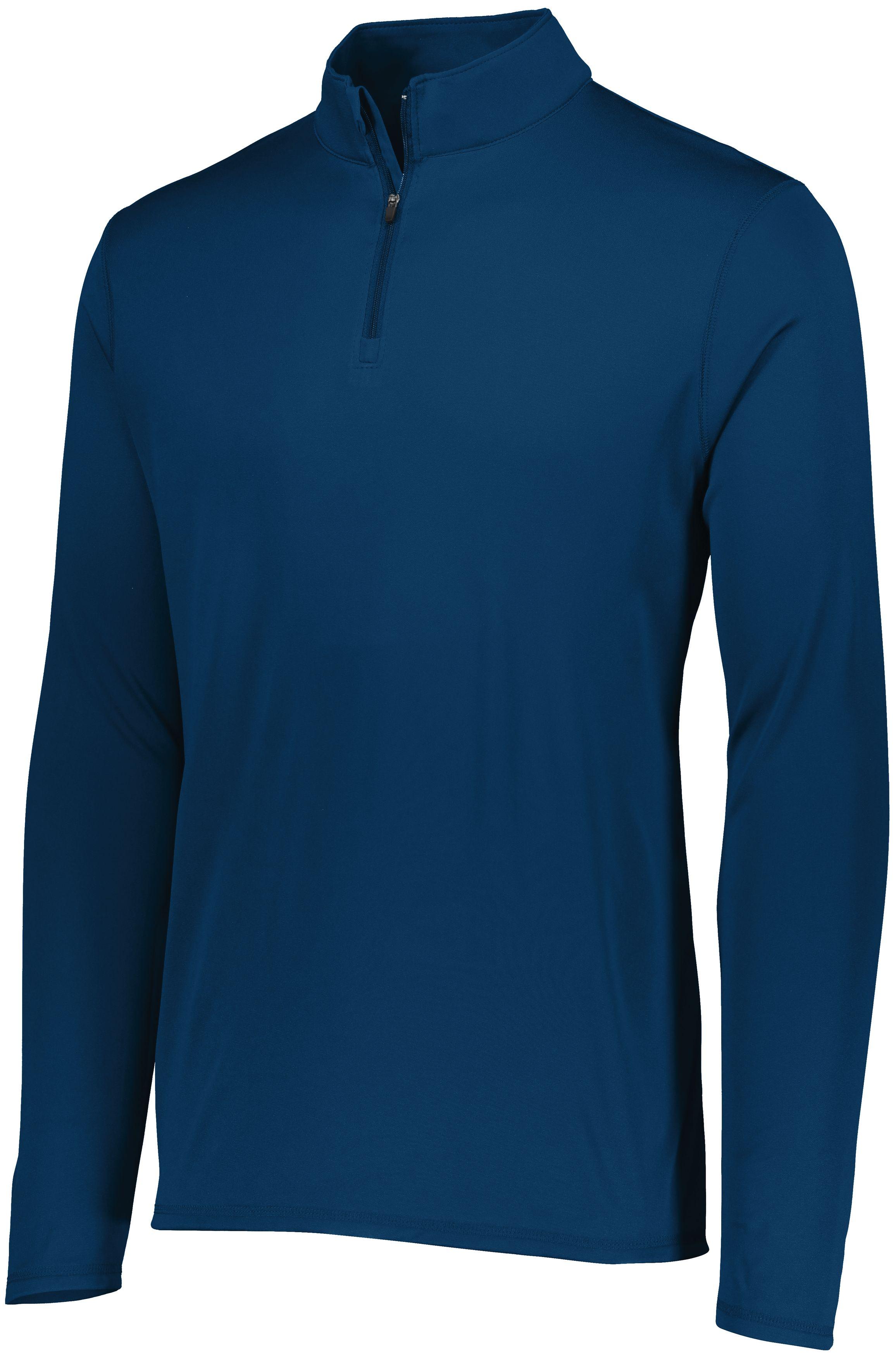 Attain Wicking 1/4 Zip Pullover - NAVY