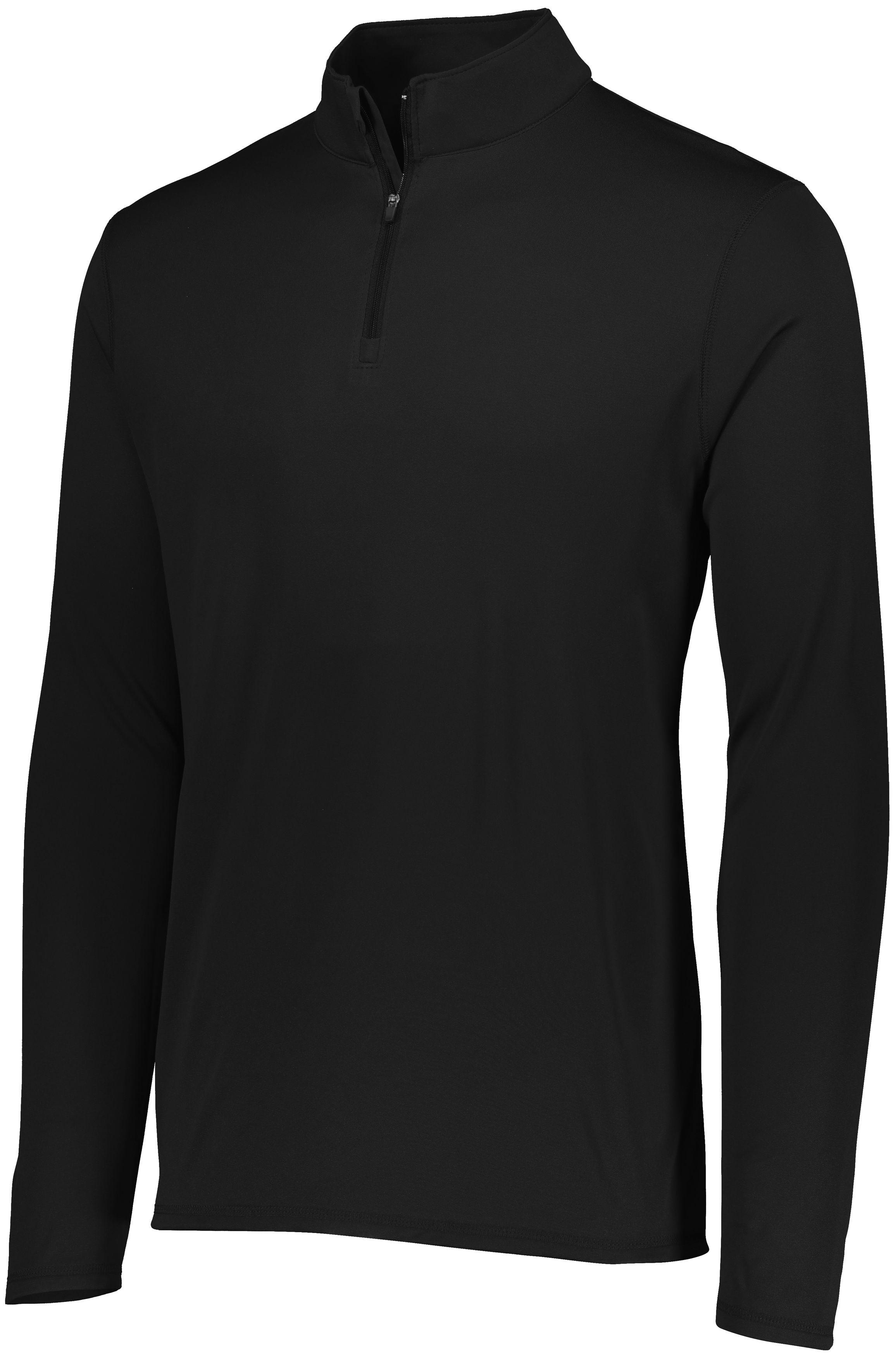 Attain Wicking 1/4 Zip Pullover - BLACK