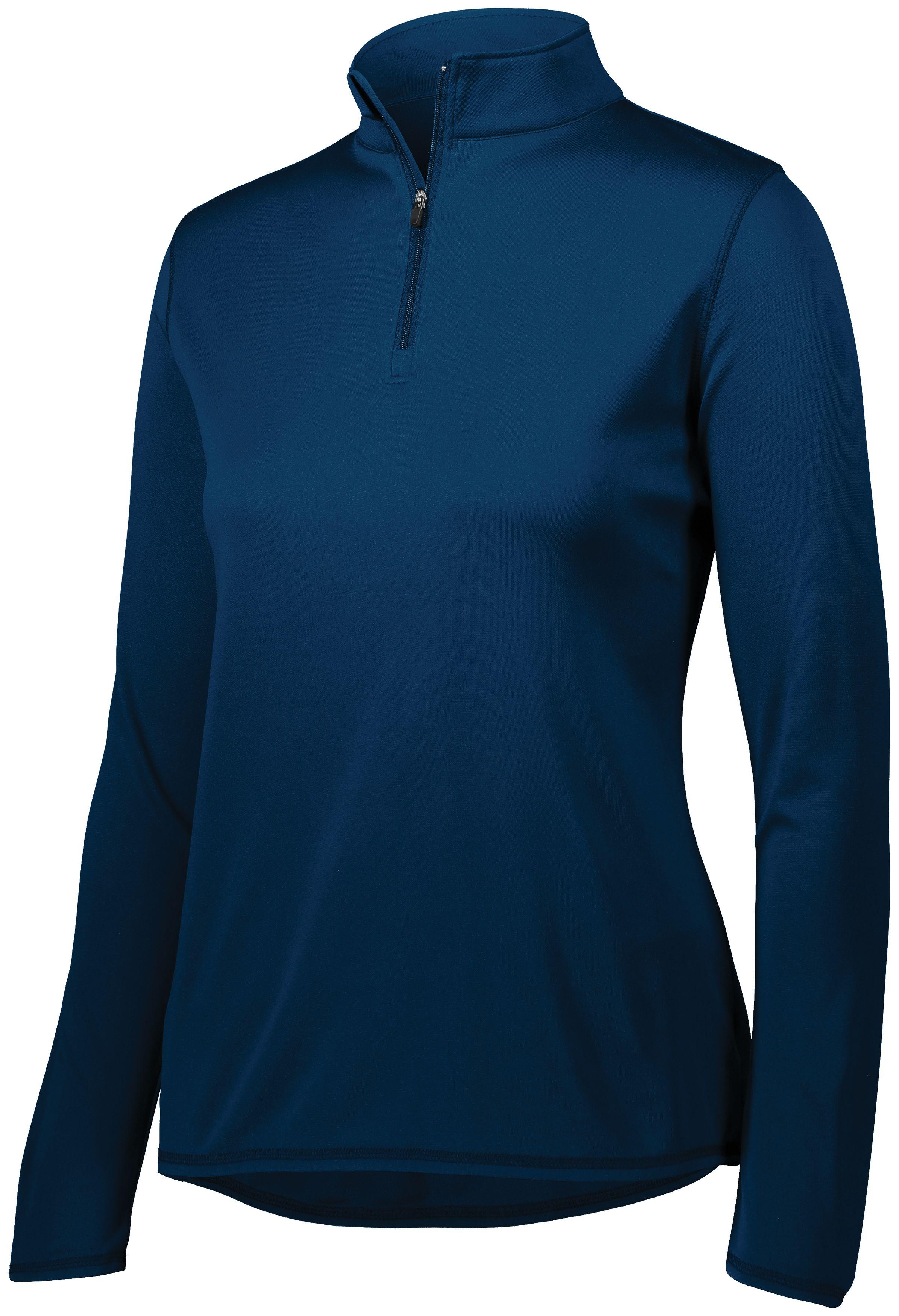 Ladies Attain Wicking 1/4 Zip Pullover - NAVY
