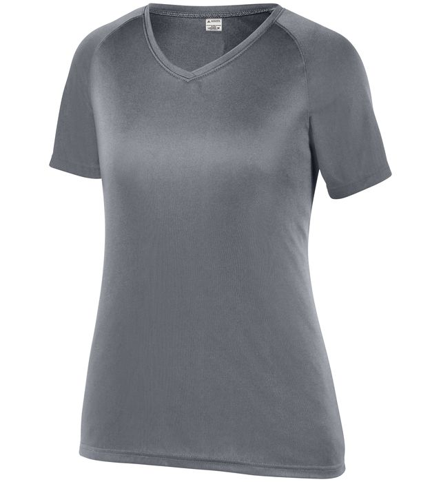 Girls Attain Wicking Raglan Sleeve Tee