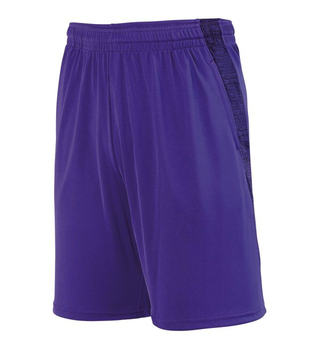 Youth Intensify Black Heather Training Shorts